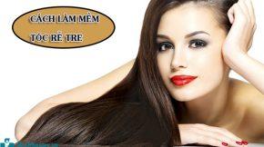 Cách làm mềm tóc rễ tre